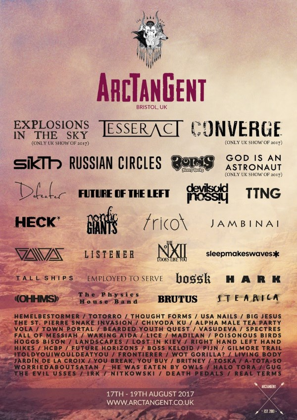 ArcTanGent Festival 2017 Final Poster