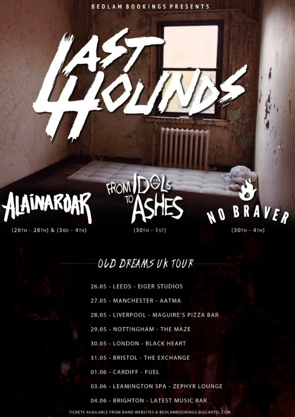 Last Hounds May June 2017 UK Tour Poster