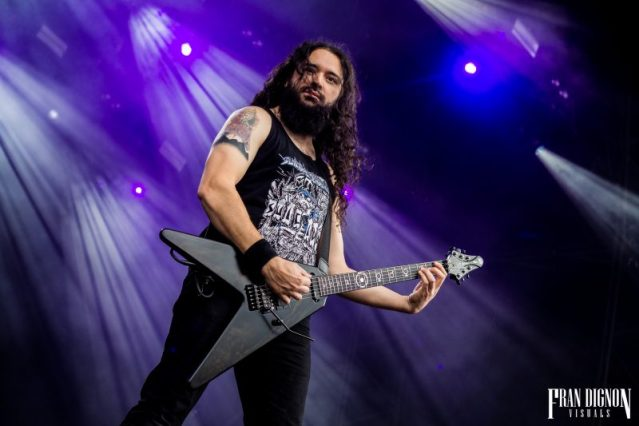 Havok on stage at Bloodstock Open Air Festival 2017