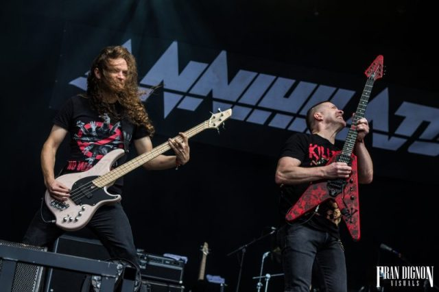 Annihilator on stage at Bloodstock Open Air Festival 2017