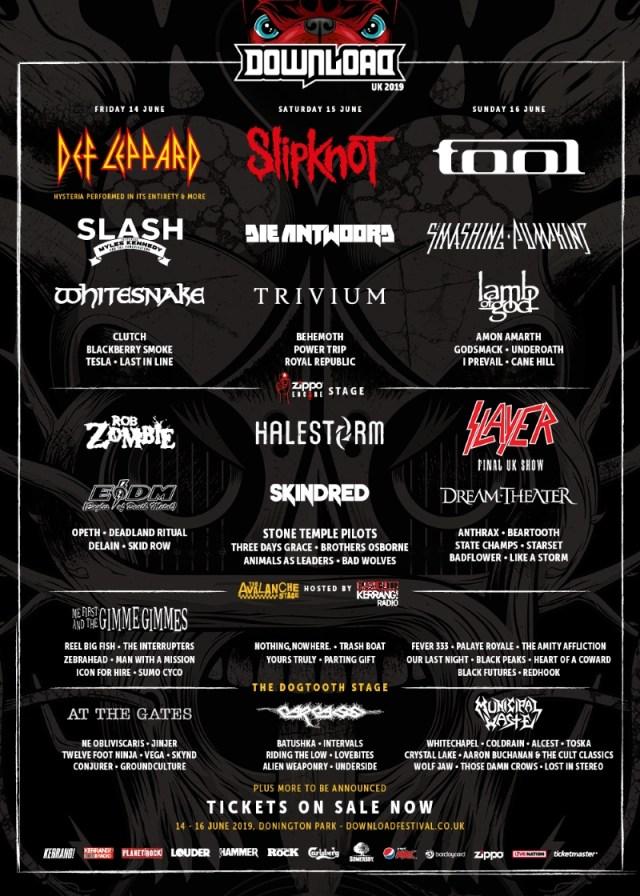 Download Festival 2019 January Halestorm Line Up Poster