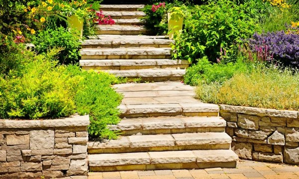 steps - rockslide gravel