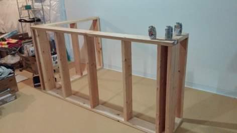 basement bar and bar cut list frame, diy bar plans, home bar, HOW TO BUILD A BAR