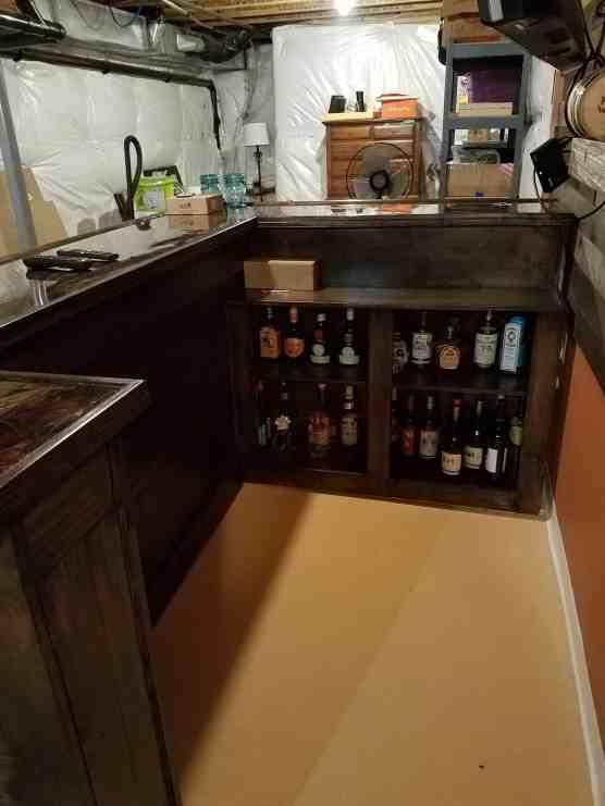 home bar shelves, bar design plans, homemade bar, diy bar