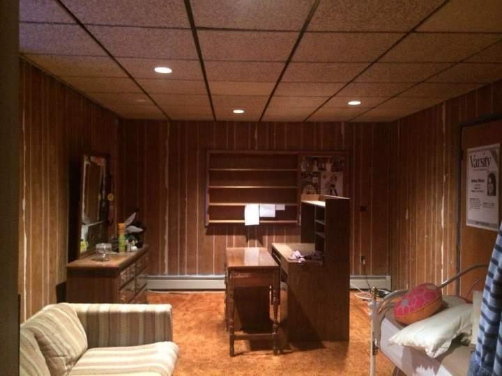 wood panel to drywall