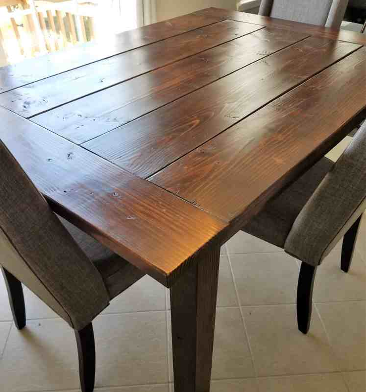rustic wood kitchen table