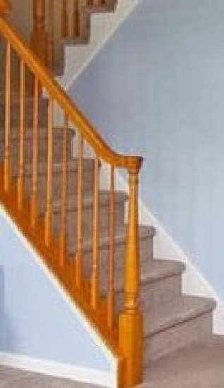 how to stain an orange staircase