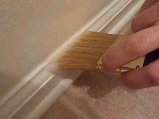 painting baseboard