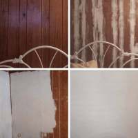 Wood Paneling Transformation Without Drywall