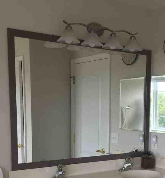 easy diy mirror frame