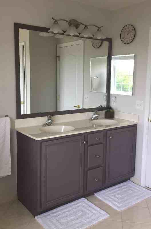 diy frame for an easy bathroom update