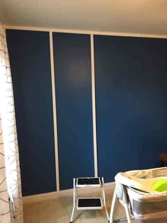 diy modern wood accent wall