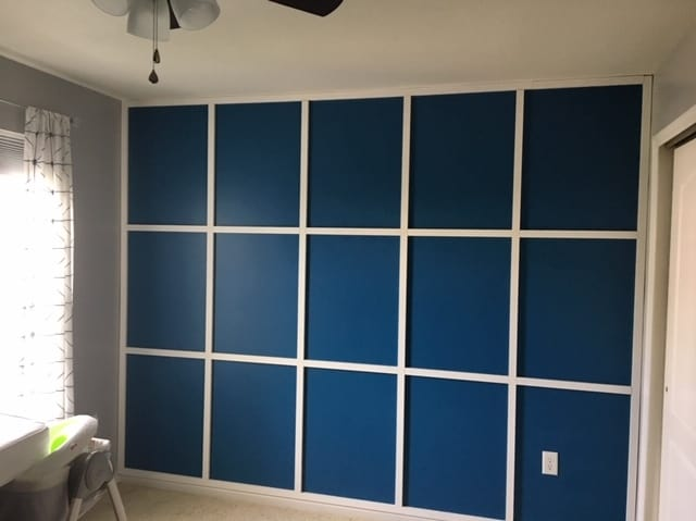 modern wood accent wall