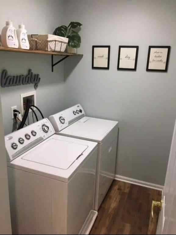 sea salt by sherwin williams in laundry room
