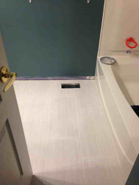 How to grout tile in bathroom