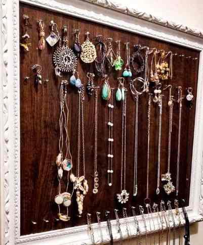 diy jewelry frame