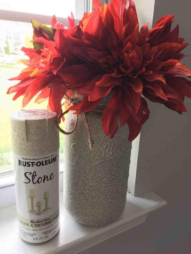 stone painted vase