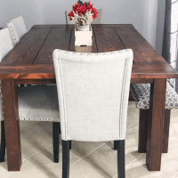 How to Make a Rustic Wood Kitchen Table