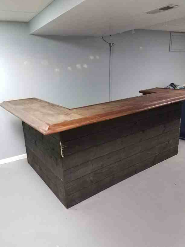 basement bar with shiplap