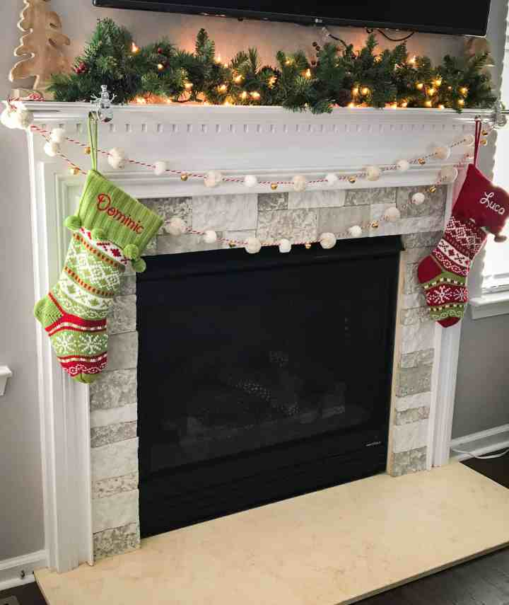 airstone fireplace update