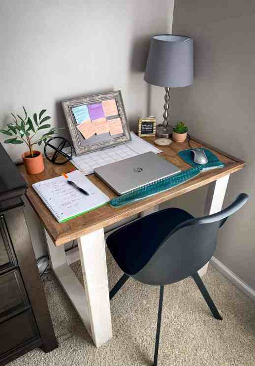 diy desk plans, rustic computer desk