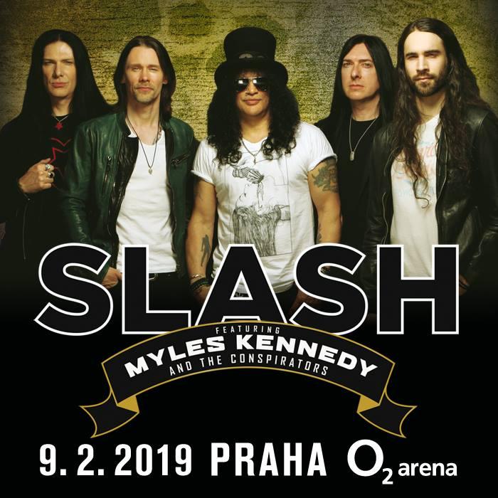 Plakát Slash k vystoupení v O2 Praha
