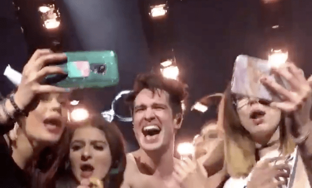 Watch Brendon Urie Invite Five Fans On Stage To Sing 'i Write Sins' With Him Last Night