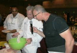 Cooking with Food Network's Robert Irvine.