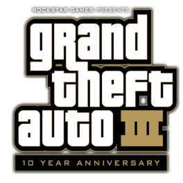 Logo Grand Theft Auto III 10th Anniversary