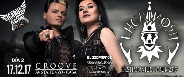 ICARUS MUSIC FESTIVAL DÍA 2: LACRIMOSA, BLOODPARADE Y MÁS @ Groove. | Buenos Aires | Argentina