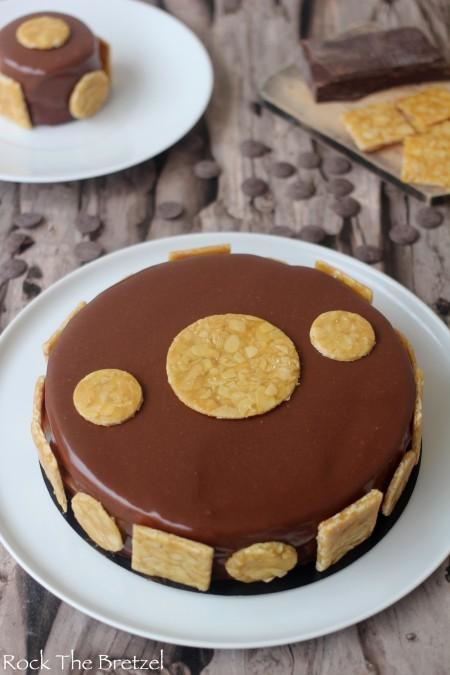 Entremets Chocolat Insert Au Caramel Au Beurre Sal
