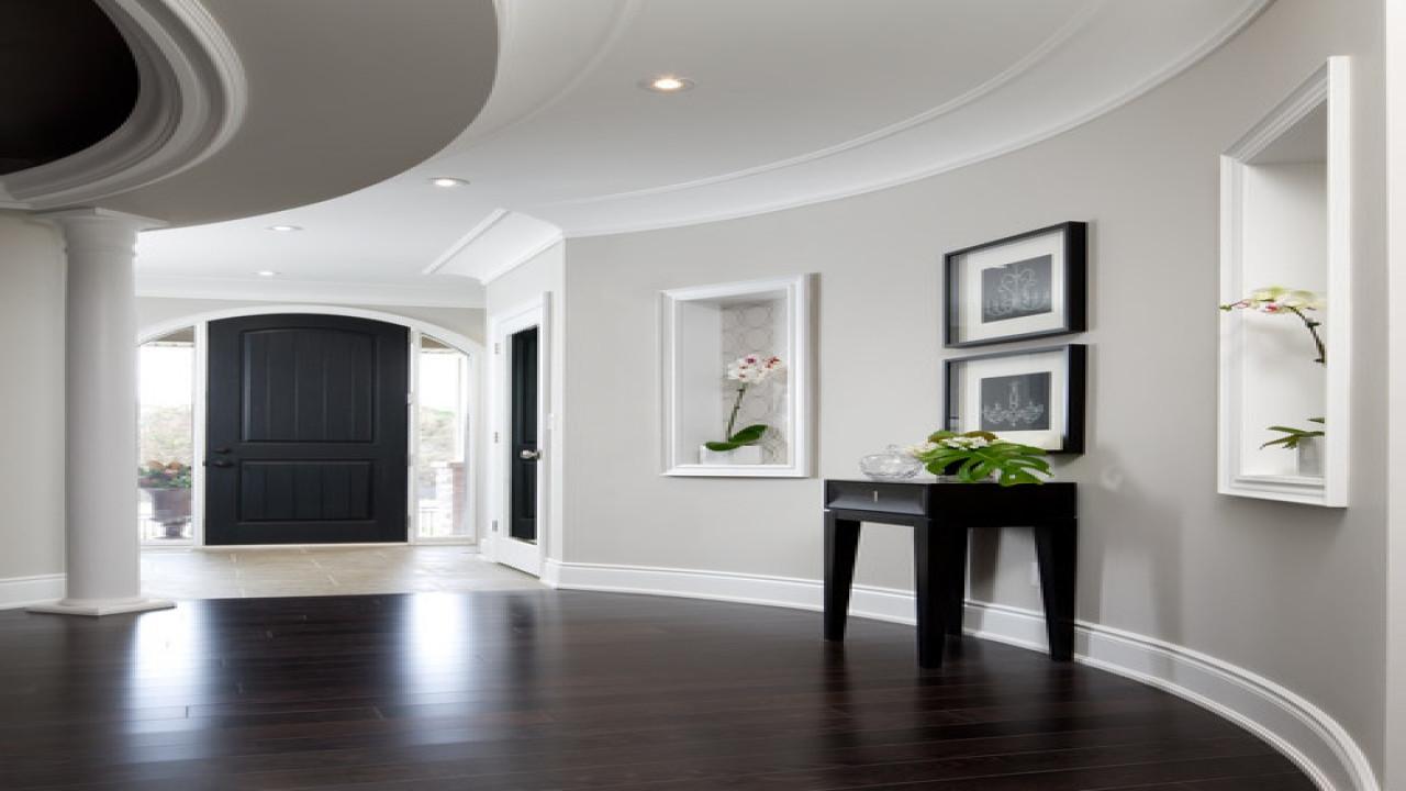 Dark Brown Hardwood Floors With Grey Walls Novocom Top