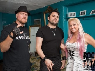 Trapt lead singer Chris Brown with Rock Titan