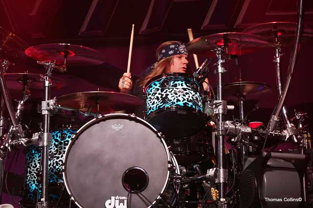 Steel Panther LIVE at The Fillmore Stixx Zadinia photo by Thomas Collins – 2