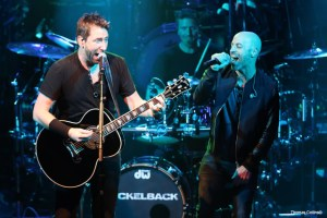 Chad Kroeger and Chris Daughtry - Photo By Tom Collins