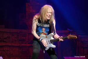 Iron Maiden guitarist Janick Gers - Photo by Tom Collins