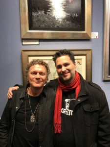 Rock Titan's Tom Collins with Def Leppard's Rick Allen