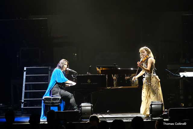Amy Lee and Lindsey Stirling - Photo by Tom Collins - Rock Titan TV