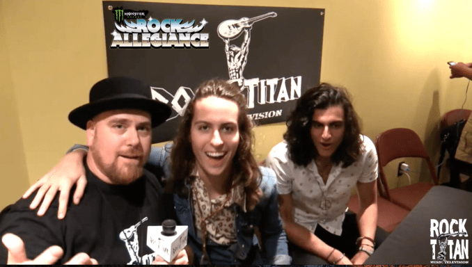 Rock Titan TV's Scotty J with Greta Van Fleet