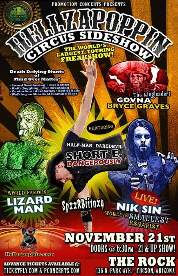 Hellzapoppin Circus Sideshow live at The Rock