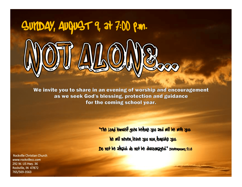 NOT ALONE poster