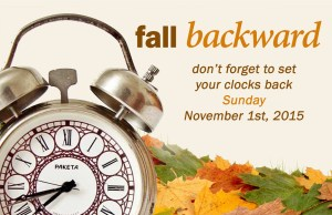 fall back saving time