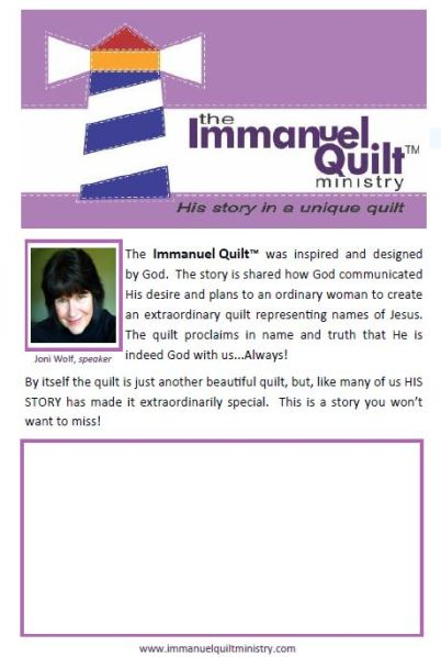 Immanuel Quilt Flier