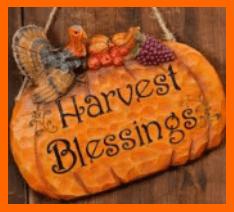 Harvest Blessings 2017