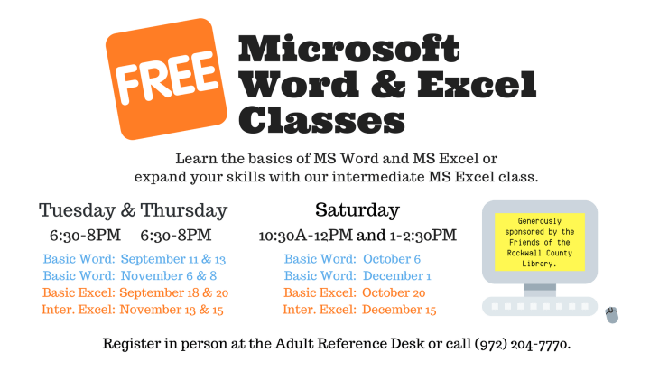 Microsoft Word Excel Classes