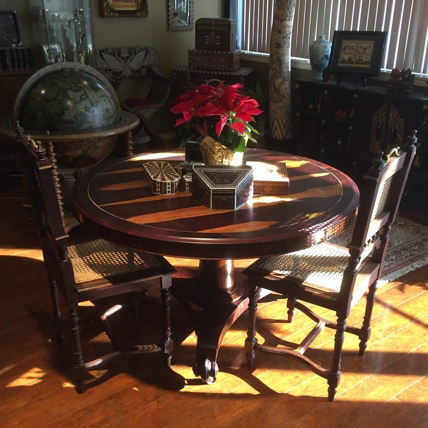 19C French Provincial Oak Cane Dining Chairs Set Of 6