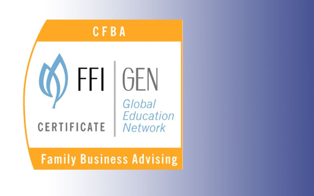 Dr. Lamp Receives Family Firm Institute (FFI) Certificate