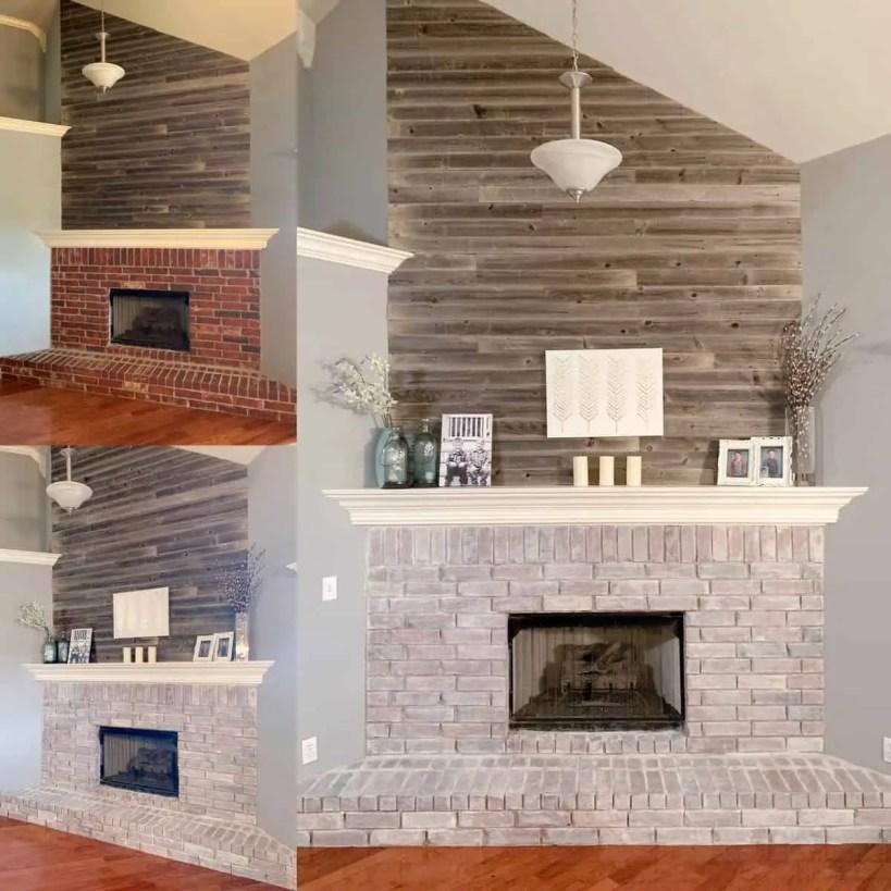 Whitewashed Brick Fireplace Rocky, White Wash Brick Fireplace Images
