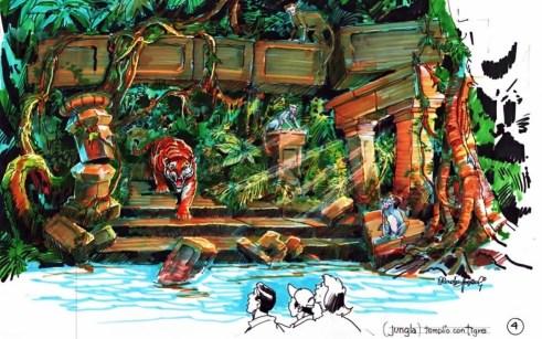 Tijgers en apen in de jungle