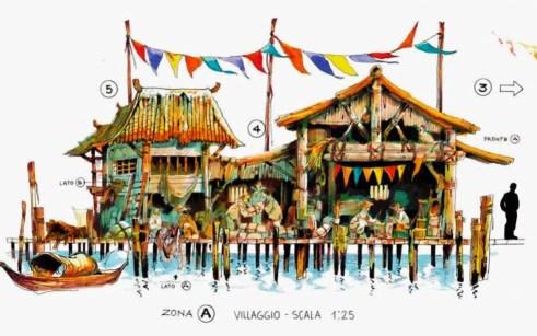 Huisjes in het jungledorp